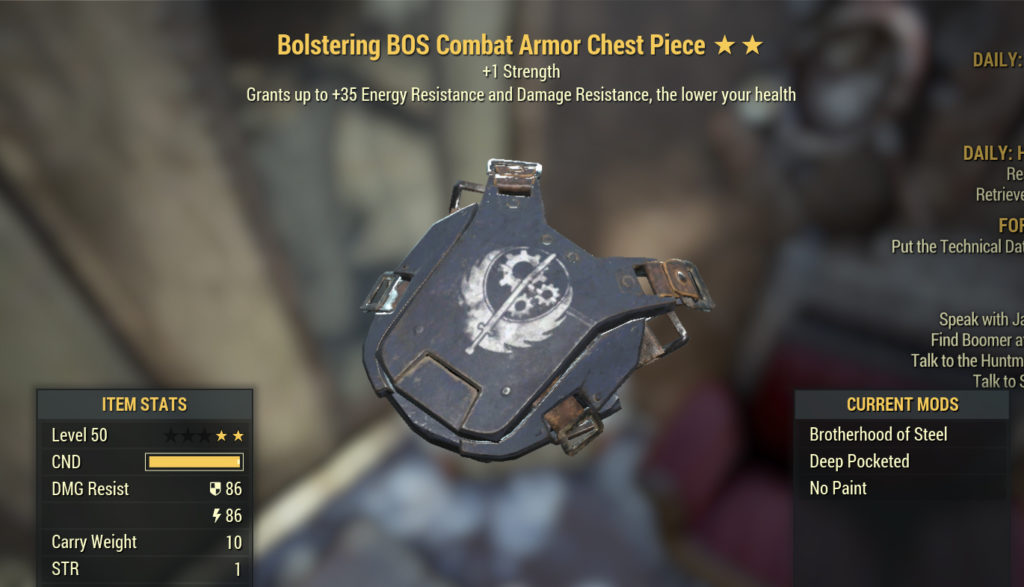 Fallout 76 Bolstering Armor