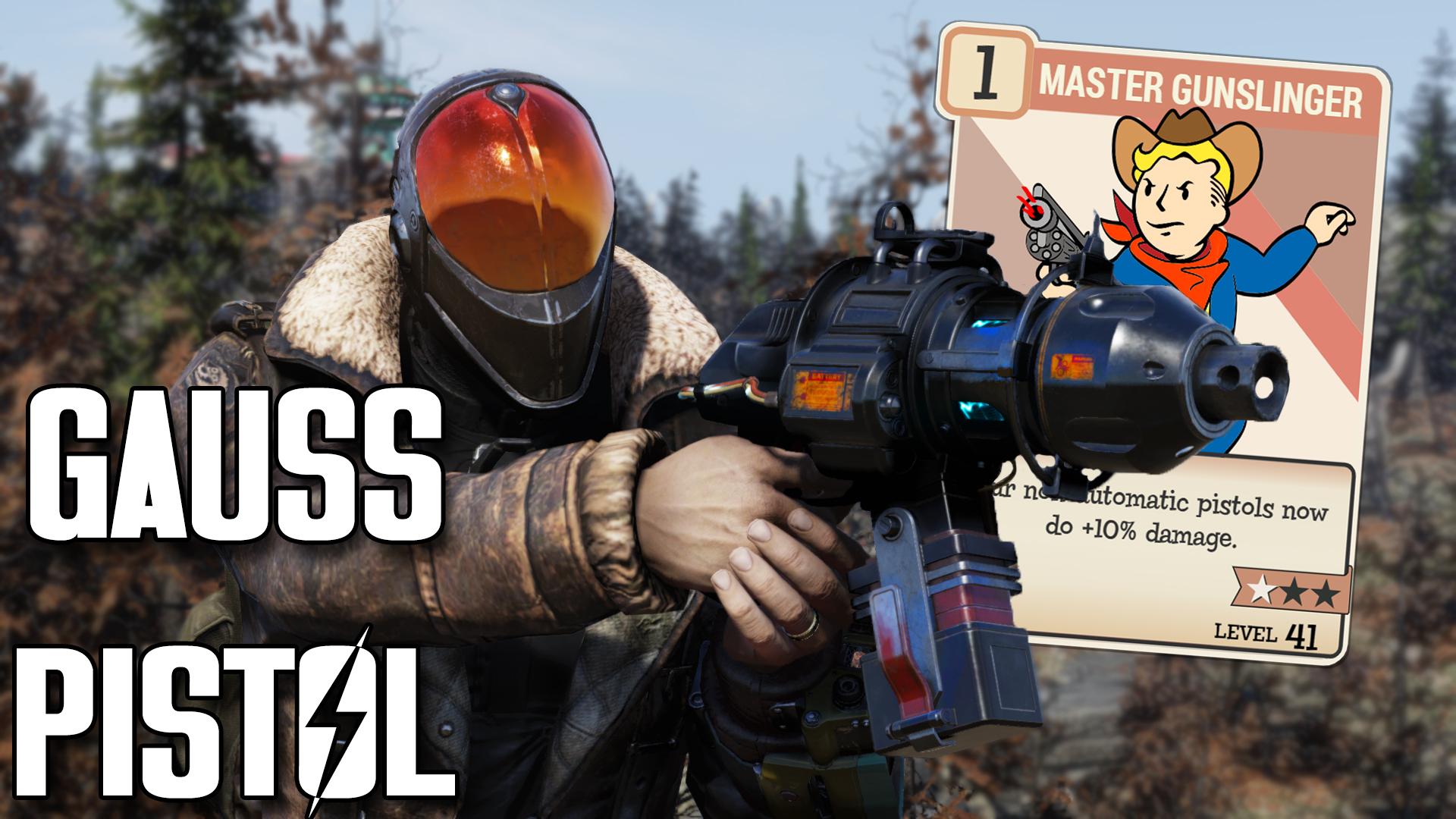 Fallout 76 Gauss Pistol Build