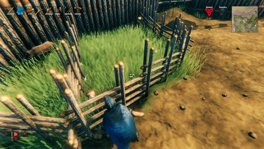 Valheim - Taming - Mushrooms in pen