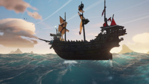 Skeleton Ships Combat Guide Galleon floating on water