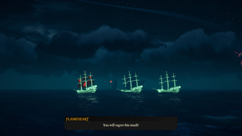 Flameheart world event spawning flameheart ship