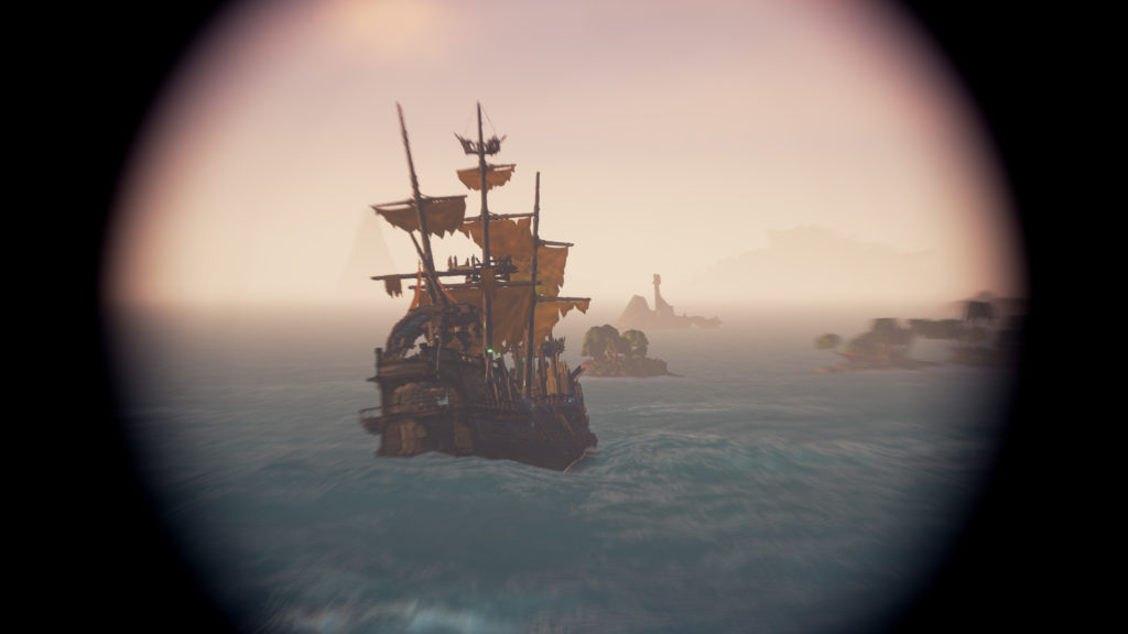 Skeleton Ships Combat Guide Galleon sailing in Open Water