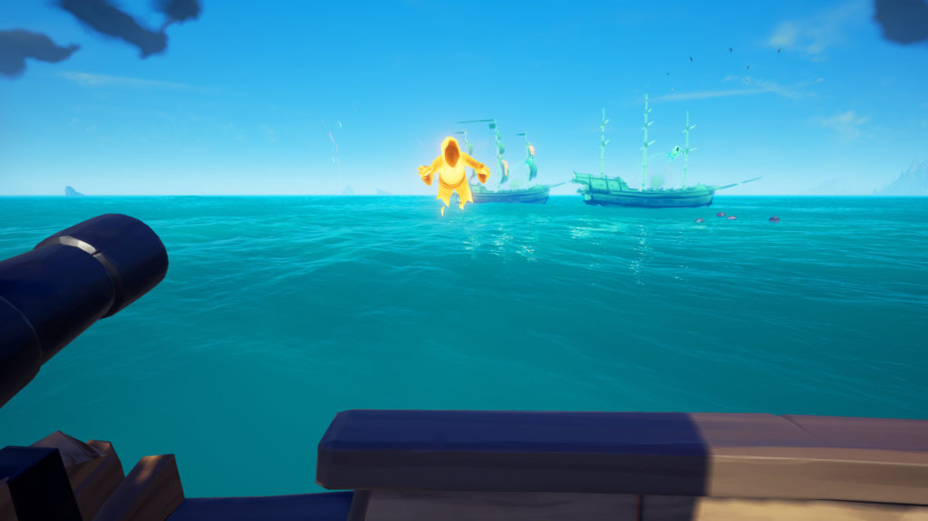 Sea of Thieves Flameheart world event attacked by multiple ships