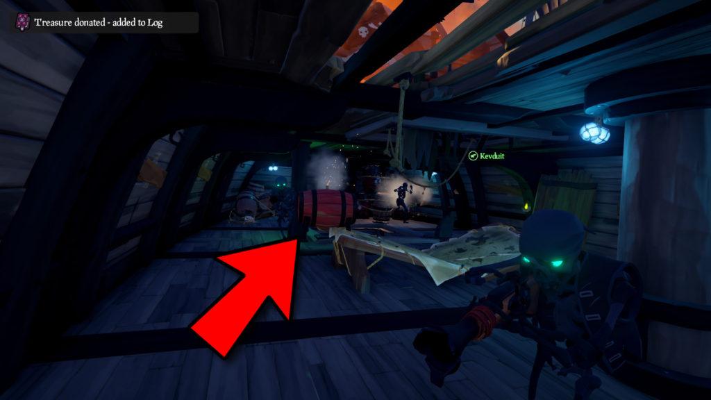 Donating a Lit Gunpowder Keg to a Galleon Skeleton ship