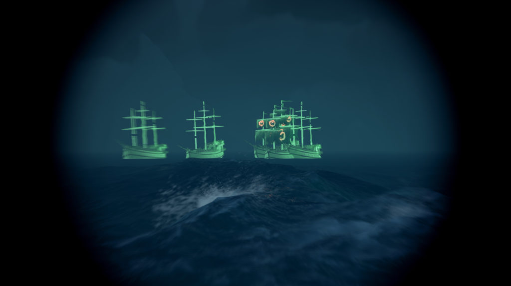 Sea of Thieves Two Captain ghost ships with escorts